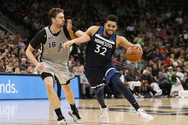 San Antonio Spurs vs. Minnesota Timberwolves - 10/17/18 NBA Pick, Odds, and Prediction