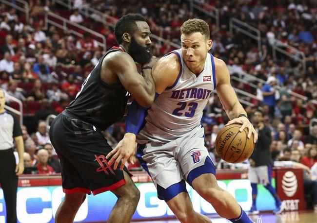 Houston Rockets vs. Detroit Pistons - 11/21/18 NBA Pick, Odds, and Prediction