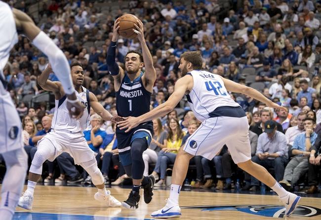 Dallas Mavericks vs. Minnesota Timberwolves - 10/20/18 NBA Pick, Odds, and Prediction