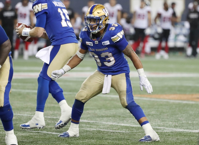Winnipeg Blue Bombers vs. Saskatchewan Roughriders CFL Pick, Odds, Prediction - 9/8/18