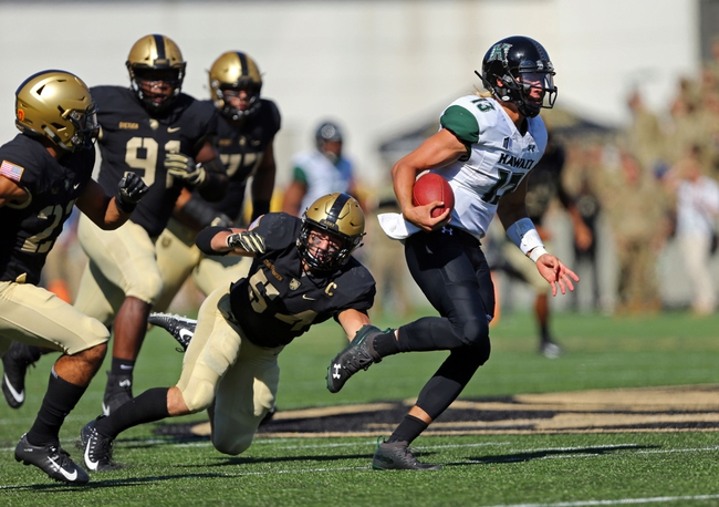 Hawaii Rainbow Warriors vs. Army Black Knights - 11/30/19 NCAA Football Pick, Odds, and Prediction