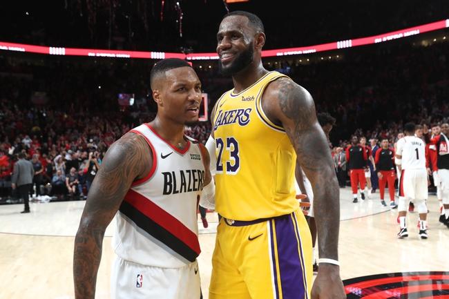 Portland Trail Blazers vs. Los Angeles Lakers - 12/6/19 ...