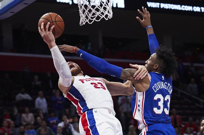 Philadelphia 76ers vs. Detroit Pistons - 11/3/18 NBA Pick, Odds, and Prediction