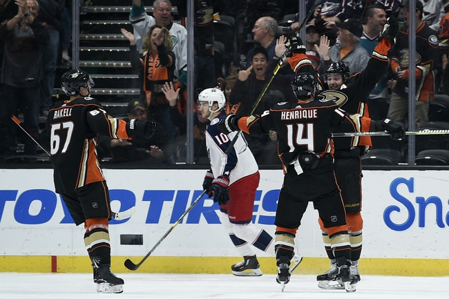 Columbus Blue Jackets vs. Anaheim Ducks - 10/11/19 NHL Pick, Odds, and Prediction