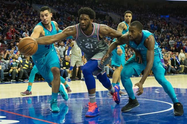 Charlotte Hornets vs. Philadelphia 76ers - 11/17/18 NBA Pick, Odds, and Prediction