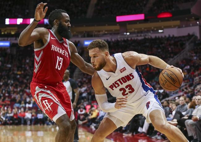 Detroit Pistons vs. Houston Rockets - 11/23/18 NBA Pick, Odds, and Prediction