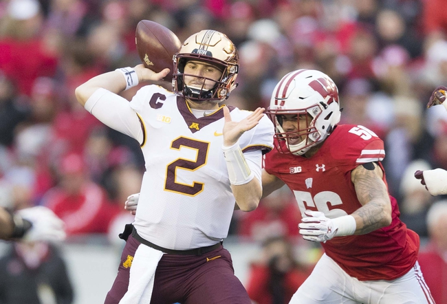 Minnesota vs. Wisconsin - 10/10/20 Early Look College Football GOY Pick, Odds, and Prediction