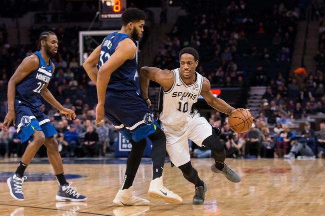 San Antonio Spurs vs. Minnesota Timberwolves - 12/21/18 NBA Pick, Odds, and Prediction