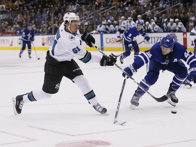 Toronto Maple Leafs vs. San Jose Sharks - 10/25/19 NHL Pick, Odds, and Prediction