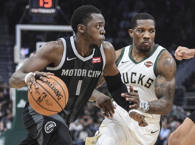 Detroit Pistons vs. Milwaukee Bucks - 12/17/18 NBA Pick, Odds, and Prediction