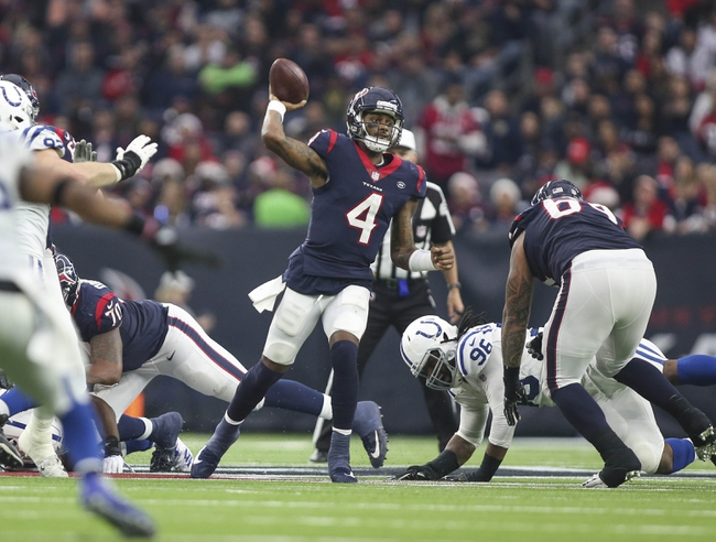 Houston Texans vs. Indianapolis Colts - 1/5/19 NFL AFC Wild Card Pick, Odds, and Prediction