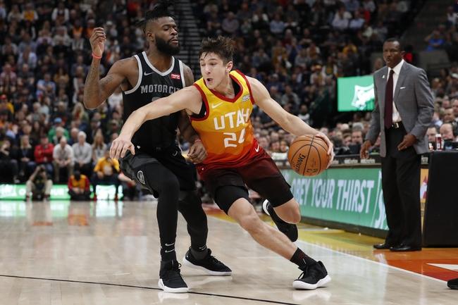 Utah Jazz vs. Detroit Pistons - 12/30/19 NBA Pick, Odds & Prediction