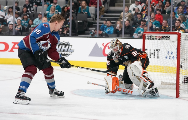 Colorado Avalanche vs. Anaheim Ducks - 10/26/19 NHL Pick, Odds, and Prediction