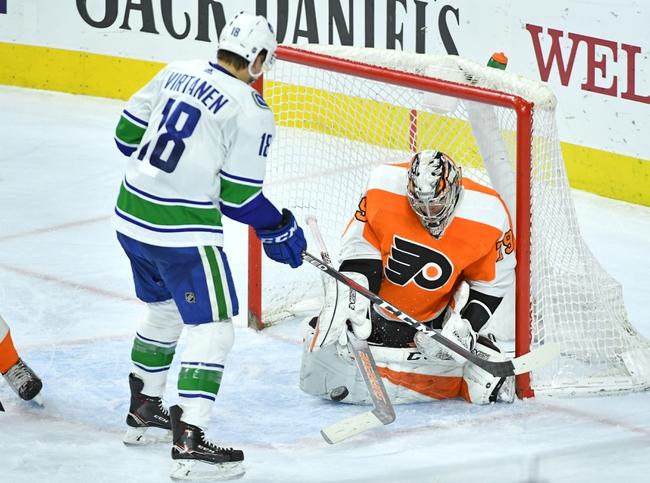 Vancouver Canucks vs. Philadelphia Flyers - 10/12/19 NHL Pick, Odds, and Prediction