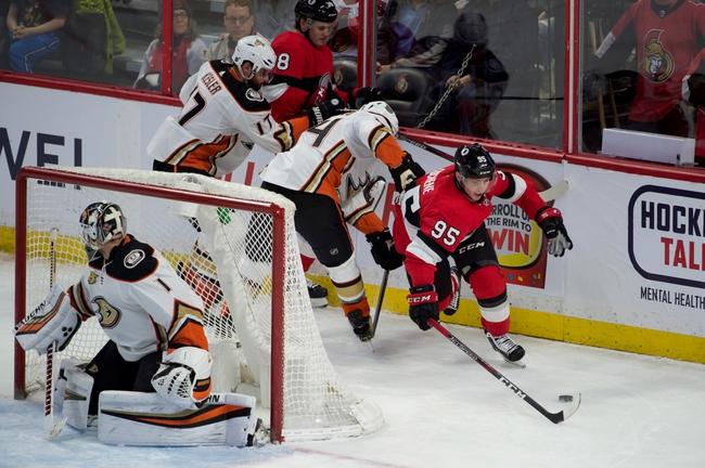 Ottawa Senators vs. Anaheim Ducks - 2/4/20 NHL Pick, Odds, and Prediction