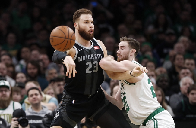 Boston Celtics vs. Detroit Pistons - 12/20/19 NBA Pick, Odds & Prediction