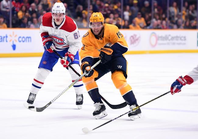 Montreal Canadiens vs. Nashville Predators - 3/10/20 NHL Pick, Odds, and Prediction