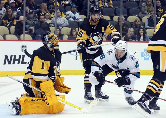 Pittsburgh Penguins vs. San Jose Sharks - 1/2/20 NHL Pick, Odds & Prediction