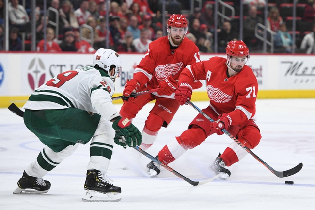 Minnesota Wild vs. Detroit Red Wings - 1/22/20 NHL Pick, Odds, and Prediction