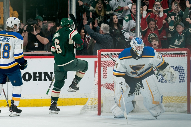 St. Louis Blues vs. Minnesota Wild - 10/30/19 NHL Pick, Odds, and Prediction