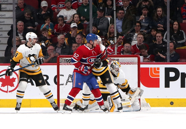 Pittsburgh Penguins vs. Montreal Canadiens - 12/10/19 NHL Pick, Odds, and Prediction