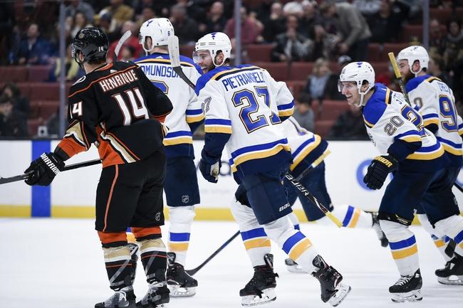 St. Louis Blues vs. Anaheim Ducks - 11/16/19 NHL Pick, Odds, and Prediction