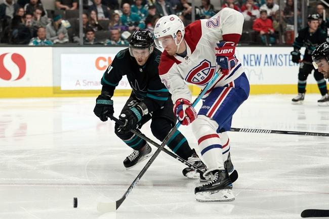 Montreal Canadiens vs. San Jose Sharks - 10/24/19 NHL Pick, Odds, and Prediction