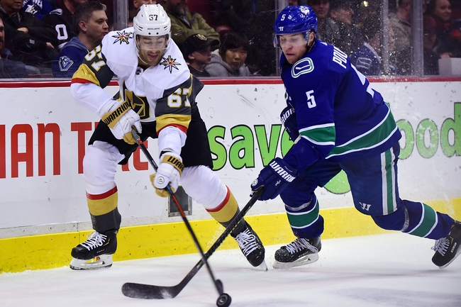 Vegas Golden Knights vs. Vancouver Canucks - 12/15/19 NHL Pick, Odds, and Prediction
