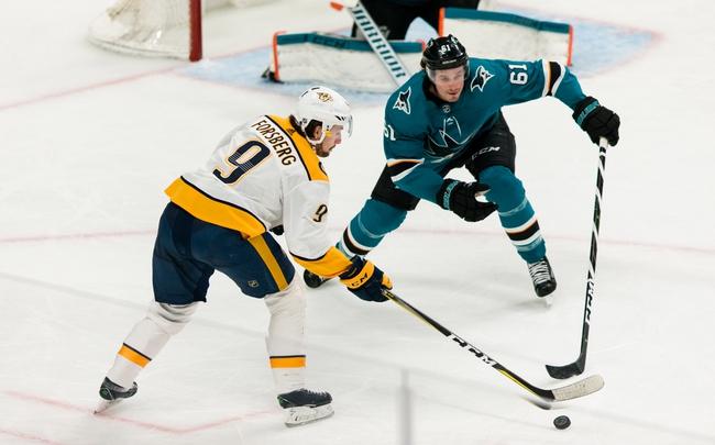 Nashville Predators vs. San Jose Sharks - 10/8/19 NHL Pick, Odds, and Prediction