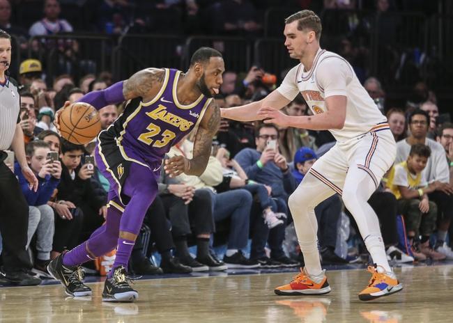 Los Angeles Lakers vs. New York Knicks - 1/7/20 NBA Pick, Odds, and Prediction