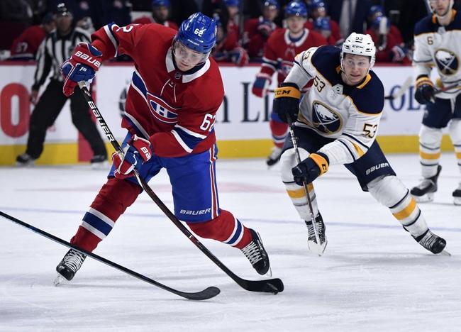 Buffalo Sabres vs. Montreal Canadiens - 10/9/19 NHL Pick, Odds, and Prediction