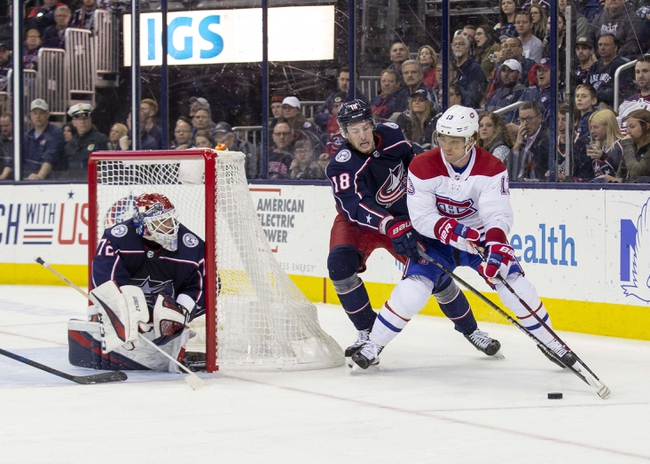 Montreal Canadiens vs. Columbus Blue Jackets - 11/12/19 NHL Pick, Odds, and Prediction