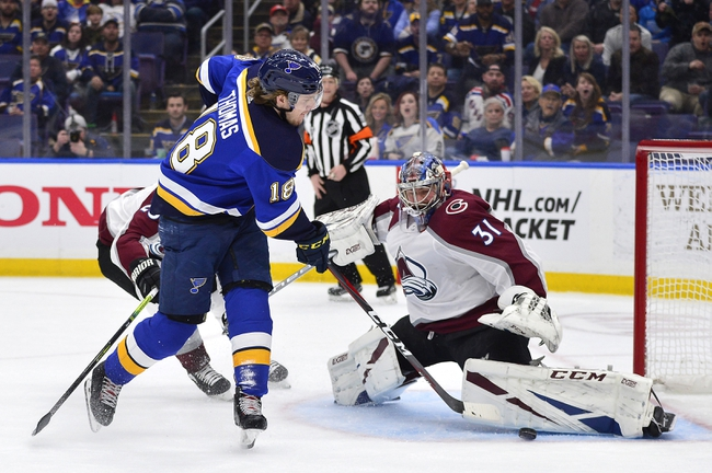 St. Louis Blues vs. Colorado Avalanche - 10/21/19 NHL Pick, Odds, and Prediction