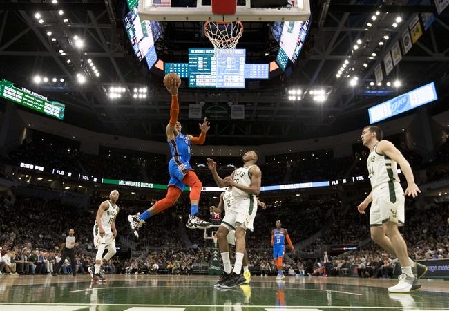 Oklahoma City Thunder vs. Milwaukee Bucks - 11/10/19 NBA Pick, Odds, and Prediction