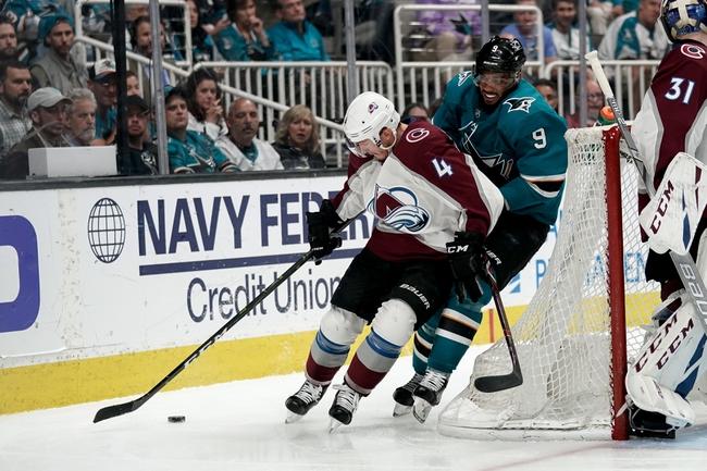 Colorado Avalanche vs. San Jose Sharks - 1/16/20 NHL Pick, Odds, and Prediction
