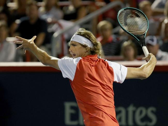 Alexander Zverev vs. Nikoloz Basilashvili - 8/8/19 Rogers Cup Tennis Pick, Odds, and Prediction