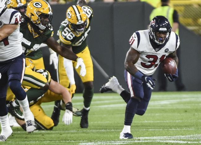 Green Bay Packers at Houston Texans 10/25/20 NFL Picks and Predictions