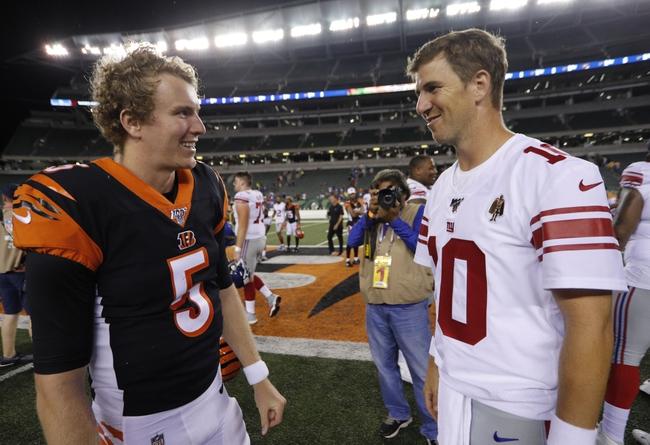 New York Giants vs. Cincinnati Bengals - 5/19/20 Madden20 NFL Sim Pick, Odds, and Prediction