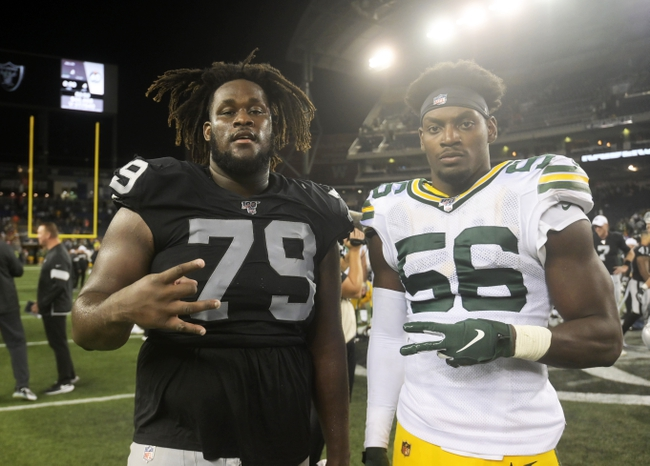 Oakland Raiders at Green Bay Packers - 10/20/19 NFL Pick, Odds, and Prediction