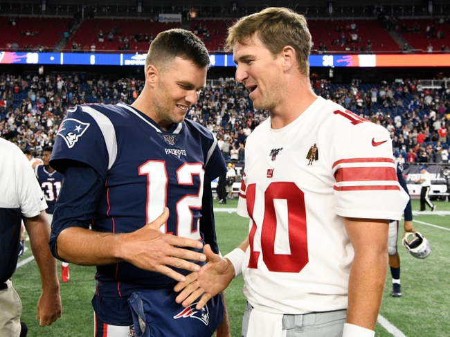 New England Patriots vs. New York Giants - 10/10/19 NFL Pick, Odds, and Prediction