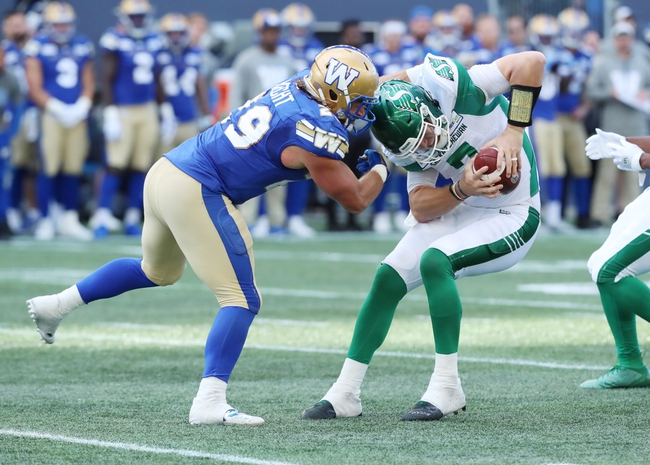 Saskatchewan Roughriders vs. Winnipeg Blue Bombers - 10/5/19 CFL Pick, Odds, and Prediction