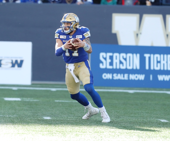 Calgary Stampeders vs. Winnipeg Blue Bombers - 10/19/19 CFL Pick, Odds, and Prediction