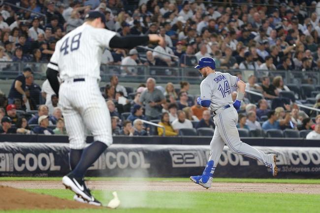 New York Yankees vs. Toronto Blue Jays - 9/21/19 MLB Pick, Odds, and Prediction