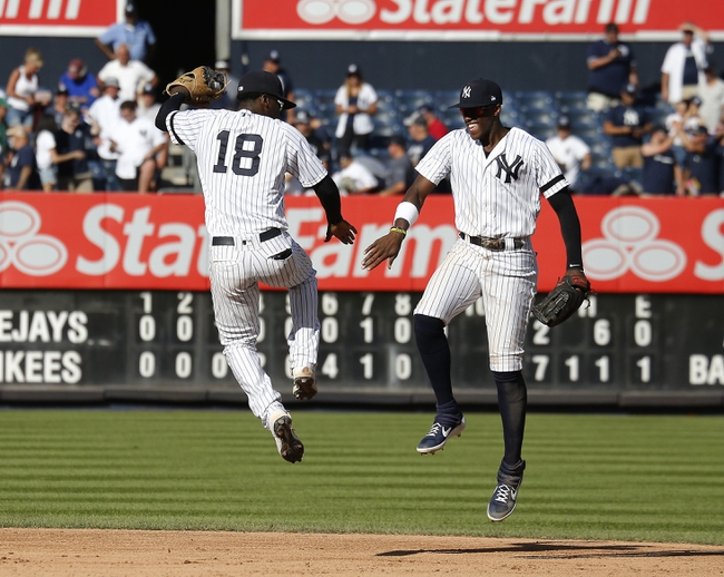 New York Yankees vs. Toronto Blue Jays - 9/22/19 MLB Pick, Odds, and Prediction