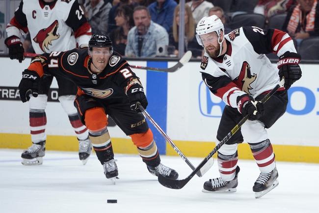Arizona Coyotes vs. Anaheim Ducks - 11/27/19 NHL Pick, Odds, and Prediction