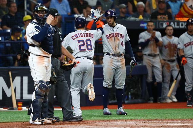 Tampa Bay Rays at Houston Astros - 10/10/19 MLB Pick, Odds, and Prediction