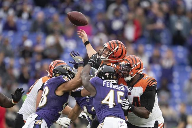 Cincinnati Bengals vs. Baltimore Ravens - 11/10/19 NFL Pick, Odds, and Prediction