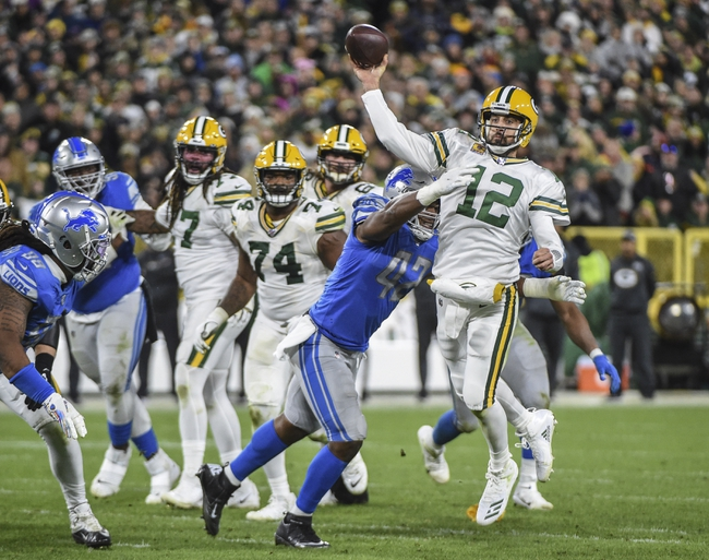 Detroit Lions vs. Green Bay Packers - 12/29/19 NFL Pick, Odds, and Prediction