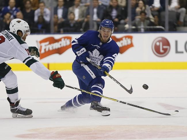 Minnesota Wild vs. Toronto Maple Leafs - 12/31/19 NHL Pick, Odds & Prediction