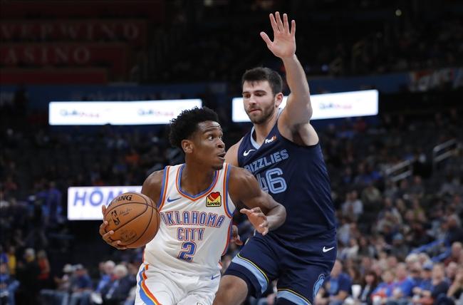 Oklahoma City Thunder vs. Memphis Grizzlies- 12/17/19 NBA Odds, Pick, & Prediction